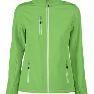 Softshell jas dames lime groen