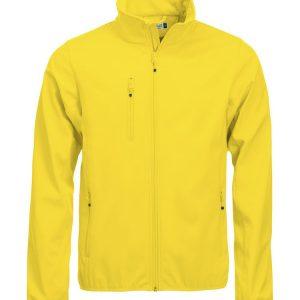 Softshell Jas Heren 020910 Clique lemon geel