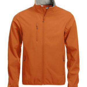 Softshell Jas Heren 020910 Clique diep oranje