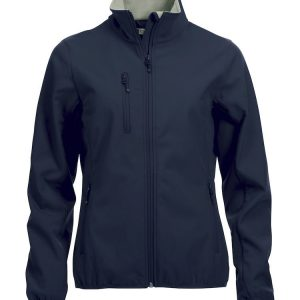 Softshell Jas Dames 020915 Cliquenavy donkerblauw