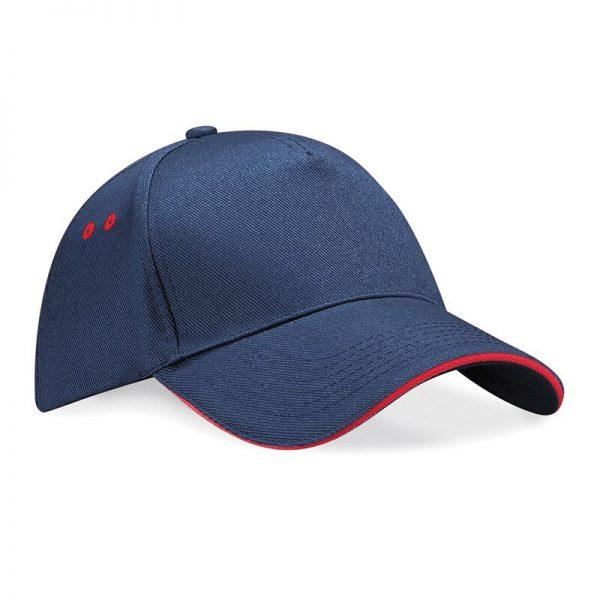 BC15C cap donker blauw/rood