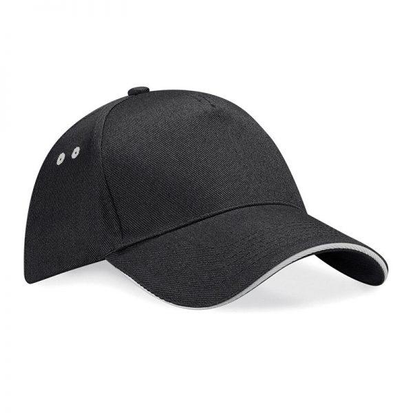 BC15C cap zwart/licht grijs