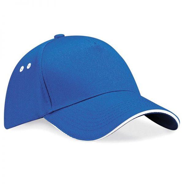 BC15C cap kobalt blauw/wit