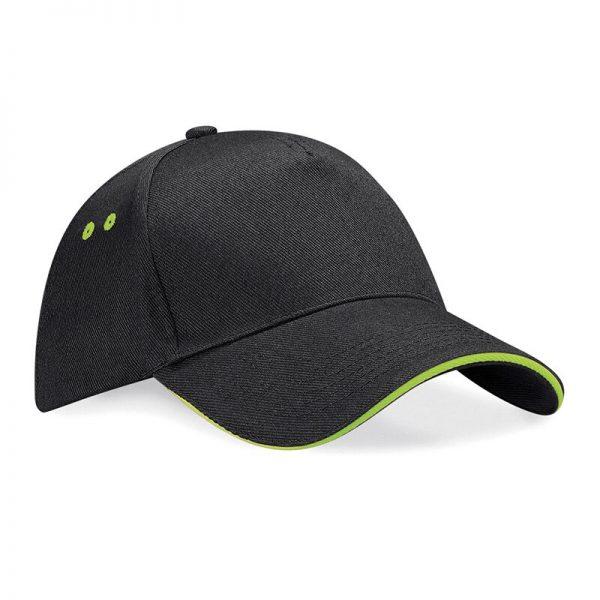 BC15C cap zwart/lime groen
