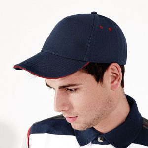 BC015C cap met contrast kleur