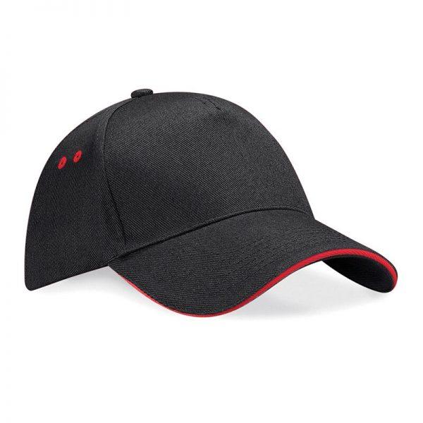 BC015C cap zwart/rood