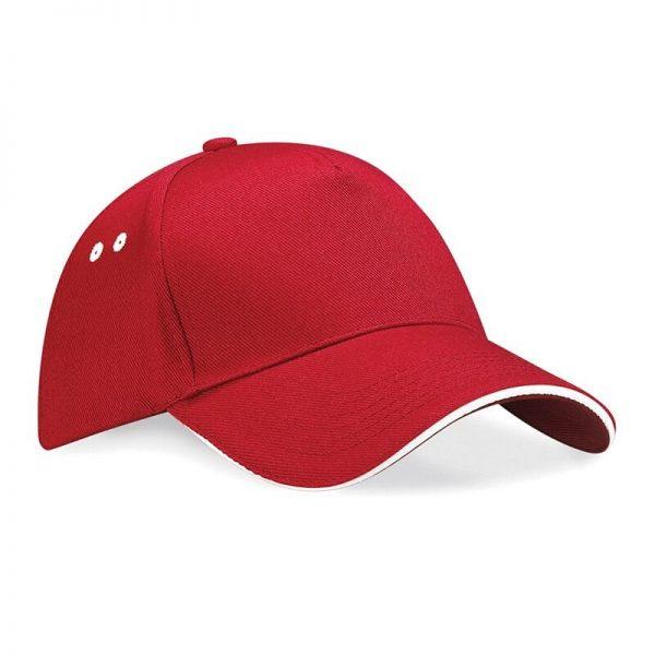 BC15C cap rood/wit
