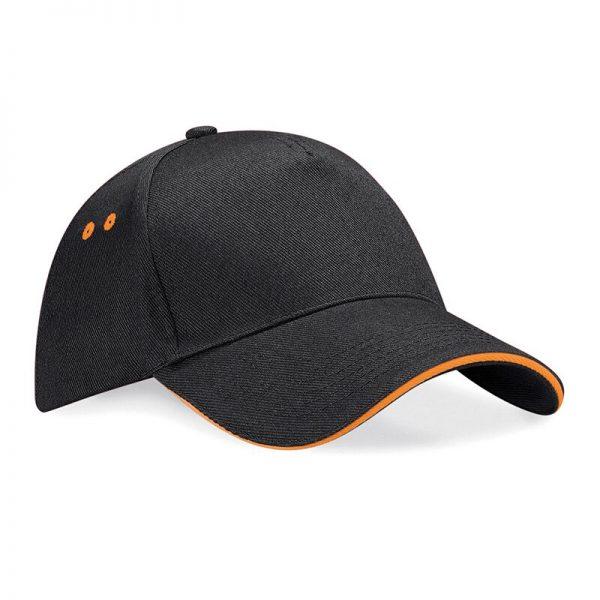BC15C cap zwart/oranje