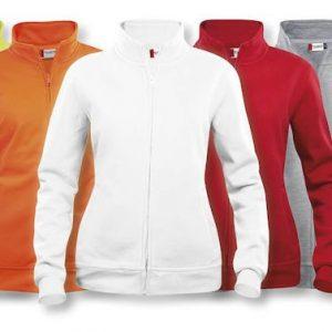 Basic dames Vest met rits 021039 Clique bedrijfskleding borduren LogoBorduurstudio in Ede bestellen kleding
