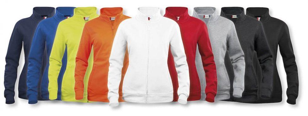 Basic dames Vest met rits 021039 Clique met logo borduren