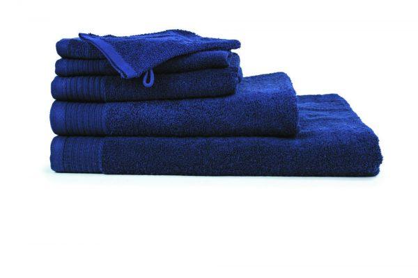 borduren goedkope handdoeken 450 grams donker blauw navy