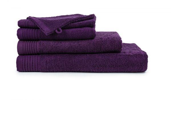 borduren goedkope handdoeken 450 grams donker paars
