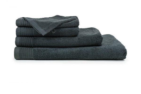 borduren goedkope handdoeken 450 grams donker grijs
