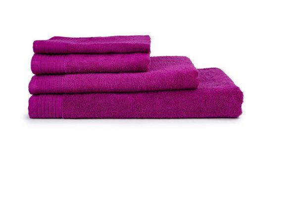 borduren goedkope handdoeken 450 grams fuchsia roze