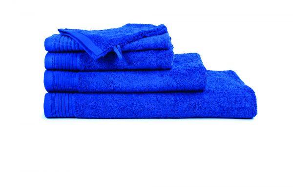 borduren goedkope handdoeken 450 grams kobalt blauw