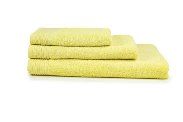 borduren goedkope handdoeken 450 grams lichtgeel