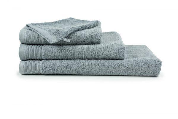 borduren goedkope handdoeken 450 grams licht grijs