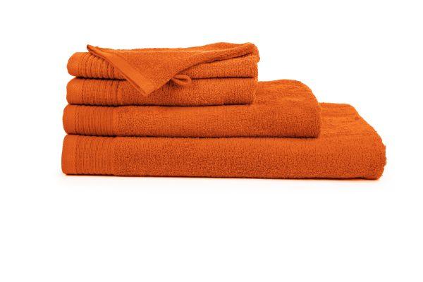 borduren goedkope handdoeken 450 grams oranje