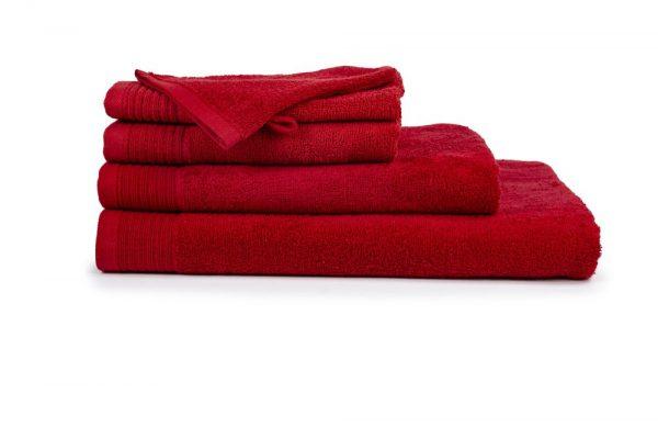 borduren goedkope handdoeken 450 grams rood