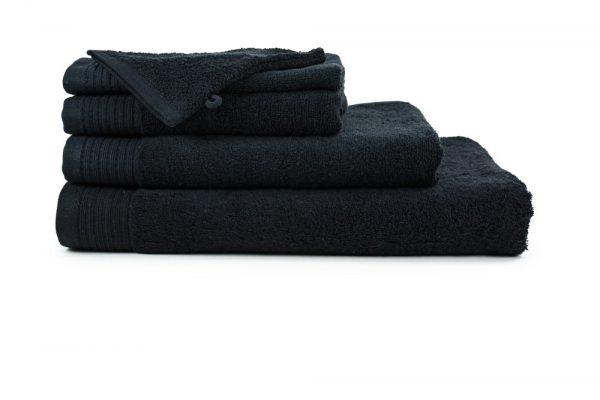 borduren goedkope handdoeken 450 grams zwart