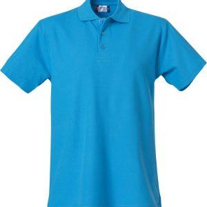 Basic Polo Heren 028230 turquoise blauw