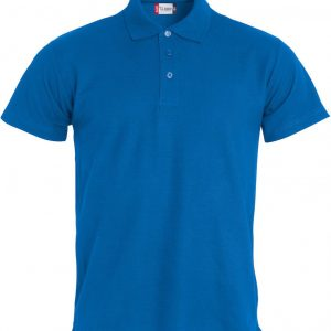 Basic Polo Heren 028230 kobalt blauw
