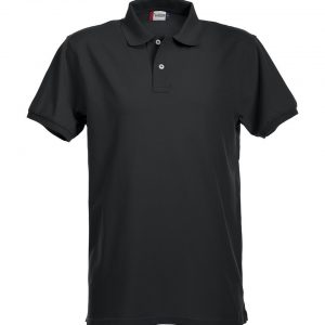 Stretch polo 028240 heren zwart