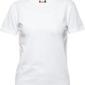 029341 heavy t-shirts dames Clique wit