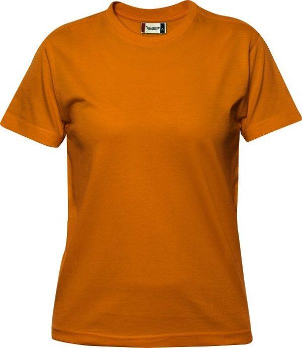 029341 heavy t-shirts dames Clique diep oranje