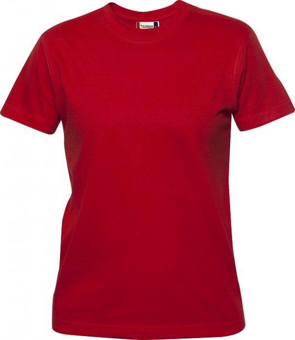 029341 heavy t-shirts dames Clique rood