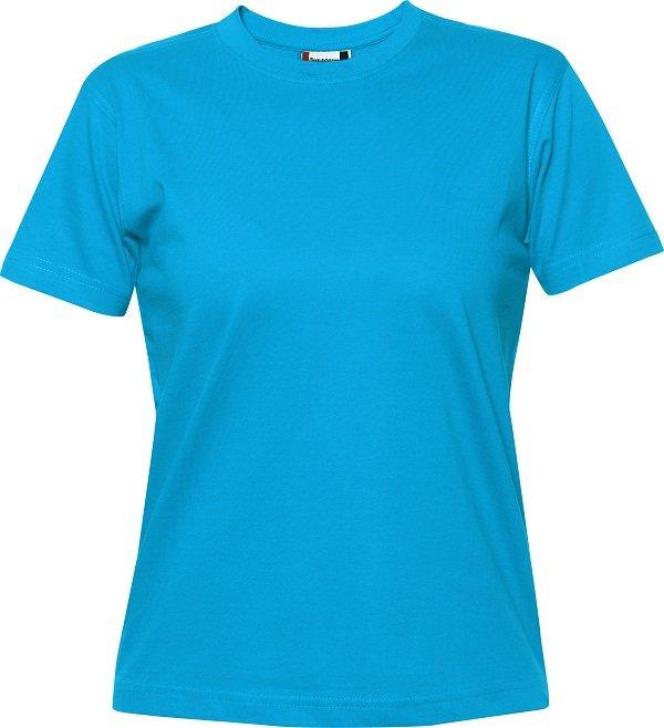 029341 heavy t-shirts dames Clique turquoise aquablauw