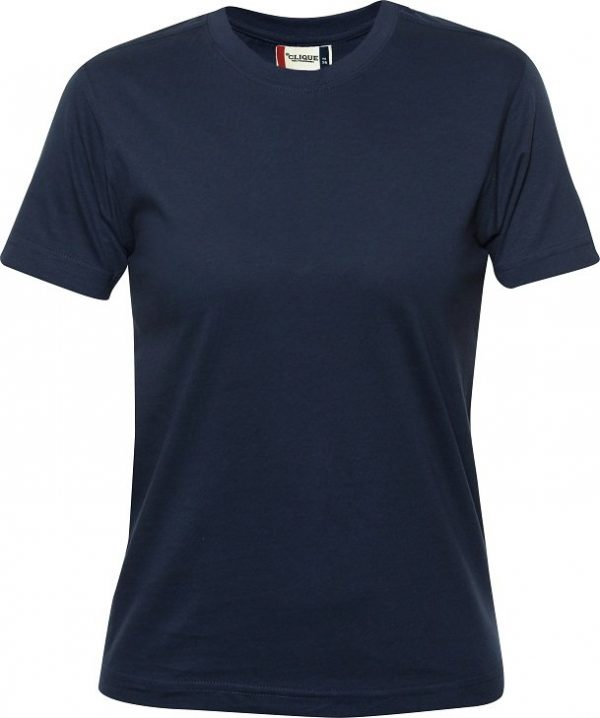 029341 heavy t-shirts dames Clique donkerblauw