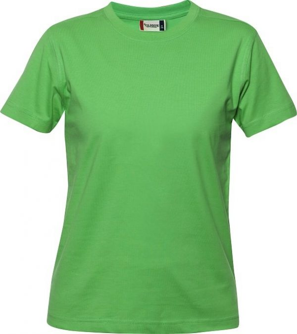 029341 heavy t-shirts dames Clique appelgroen