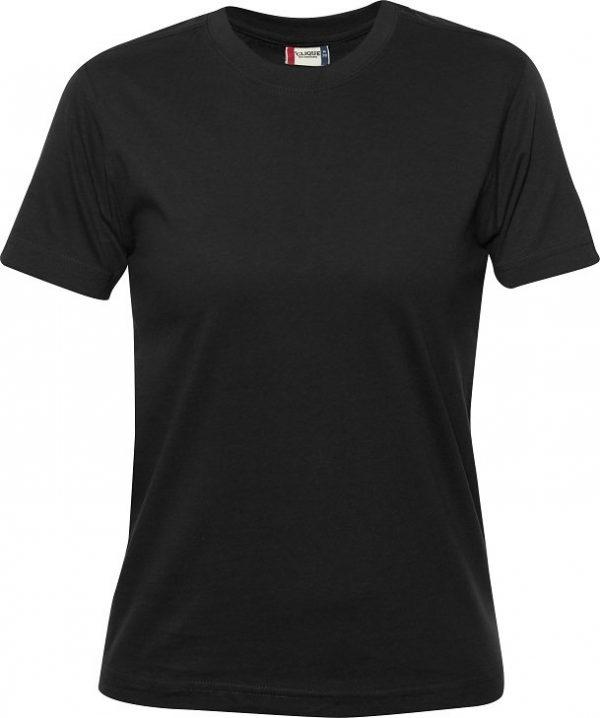 029341 heavy t-shirts dames Clique zwart