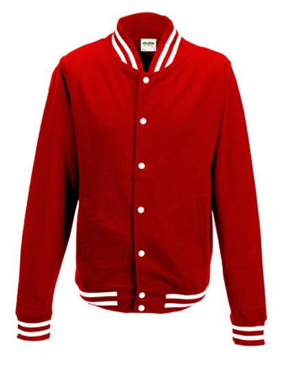 JH041 Baseball vest rood (fire red)