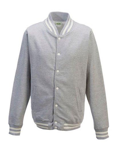 JH041 Baseball vest grijs (heather grey)