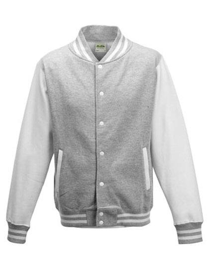 JH043 baseball vest heather grey/white