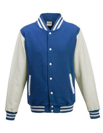 JH043 baseball vest royal blue/white