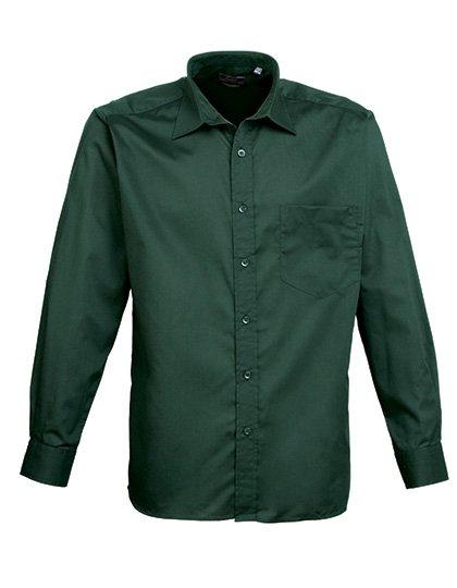 PW200 overhemd donker groen (bottle) borduren met logo of tekst