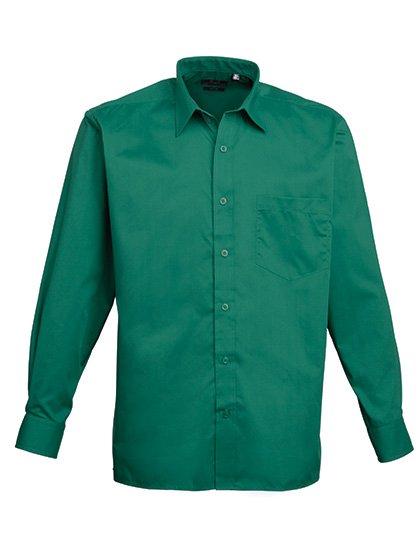 PW200 overhemd groen tint (emerald) borduren met logo of tekst