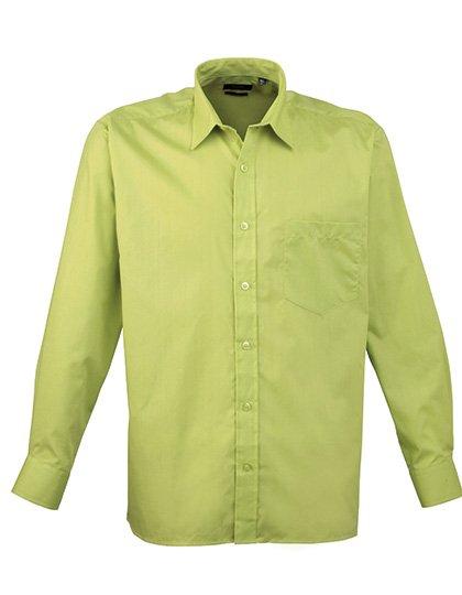 PW200 overhemd limoen groen (lime) borduren met Logo of tekst