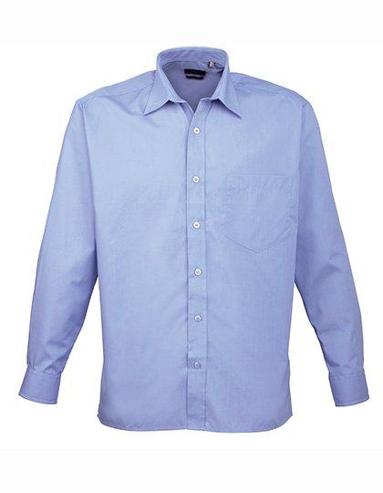 PW200 overhemd midden blauw (mid blue) borduren met Logo of tekst