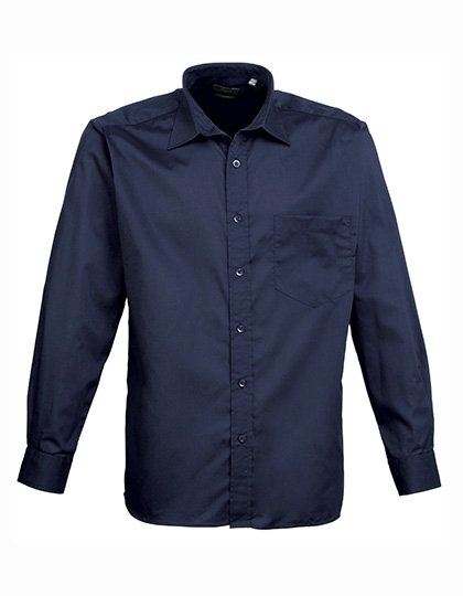PW200 overhemd donker blauw (navy) borduren met logo of tekst