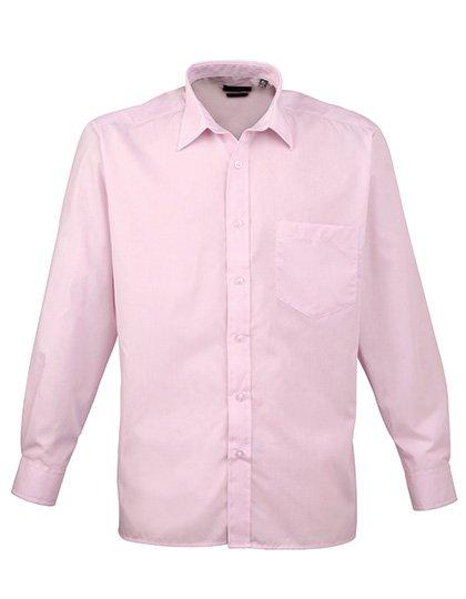 PW200 overhemd licht roze (pink) borduren met logo of tekst