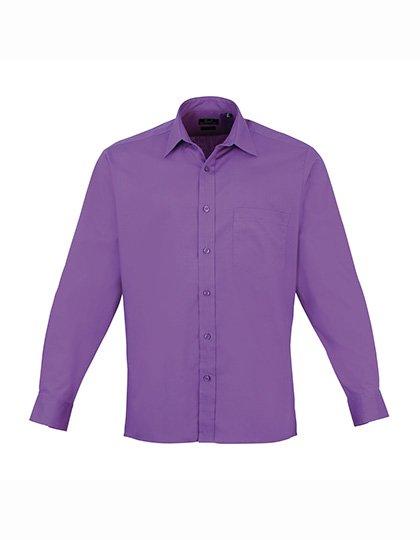 PW200 overhemd paars tint (rich violet) borduren met Logo of tekst