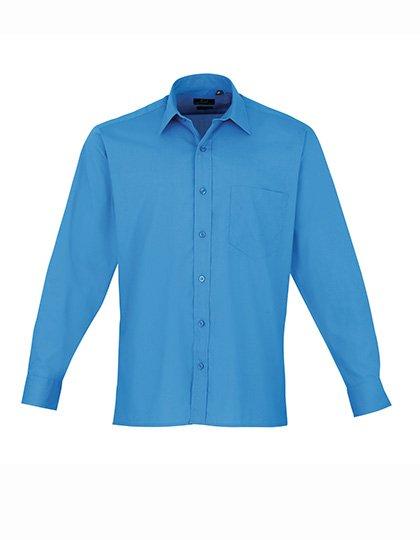 PW200 overhemd blauw tint (sapphire) borduren met logo of tekst