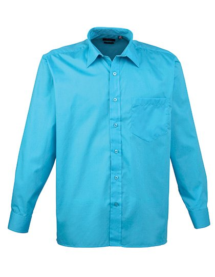 PW200 overhemd turkoois blauw (turqouise) borduren met Logo of tekst