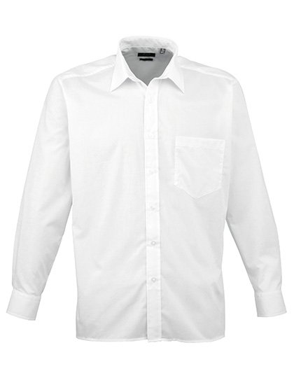 PW200 overhemd wit (white) borduren met Logo of tekst