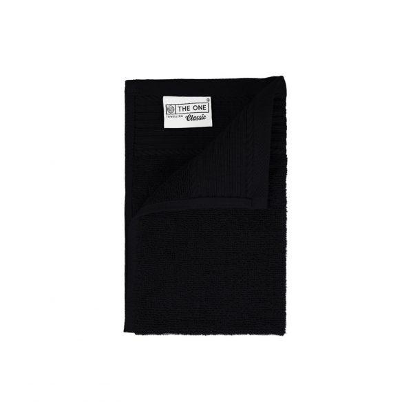 30 x 50 Gastendoeken 500 grams badstof zwart