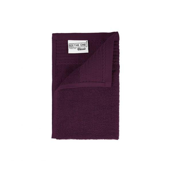 30 x 50 Gastendoeken 500 grams badstof paars donkerrode kool kleur